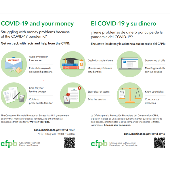 Cover page for COVID-19 and Your Money (Color) - Download Only