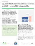Cover page for FOR LANDLORDS - Squeezed between missed rental income and bills you owe? Help is available (download only)